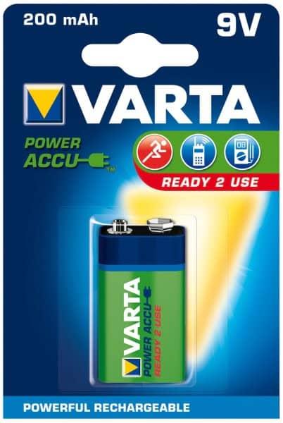 9V NiMH ready2use oplaadbare batterij